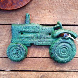 Flaschenöffner Traktor grün