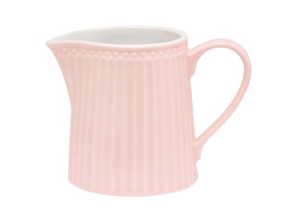 Stoneware Creamer Alice pale pink