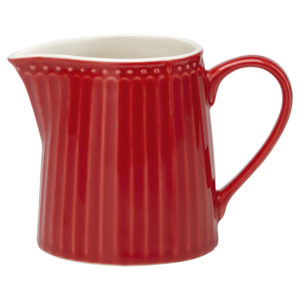 Stoneware Creamer Alice red