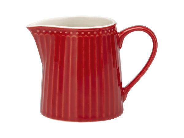Stoneware Creamer Alice red