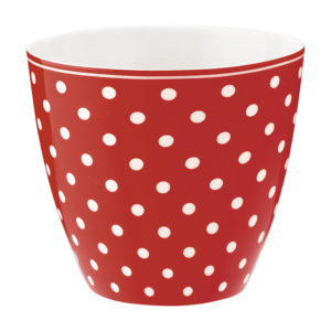Stoneware Latte cup Spot red