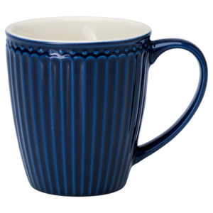Stoneware Mug Alice dark blue