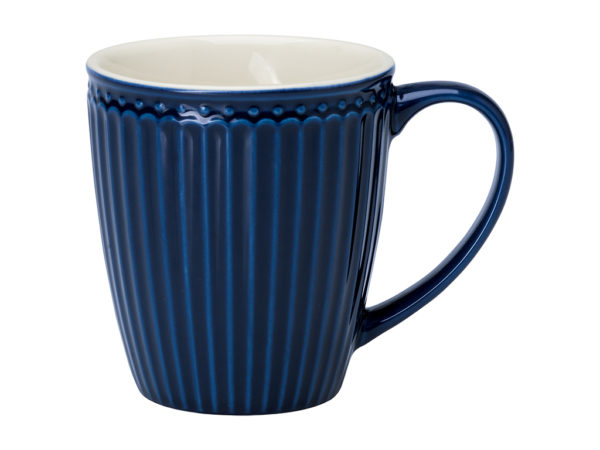 Stoneware Mug Alice dark blue