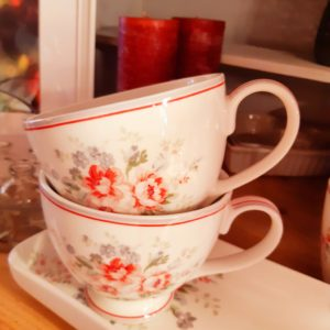 Greengate Teacup Elouise white