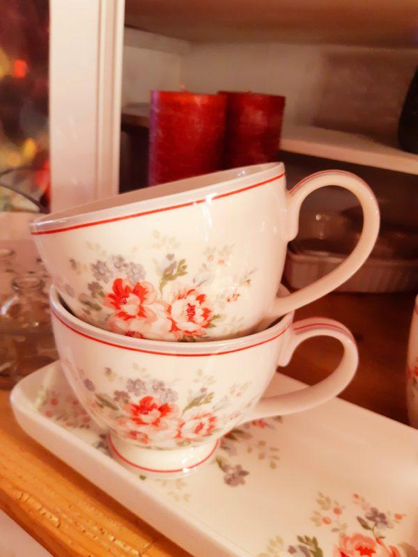 Greengate Teacup Elouise white
