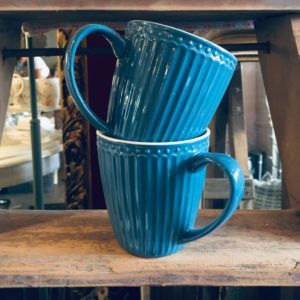Stoneware Mug Alice ocean blue