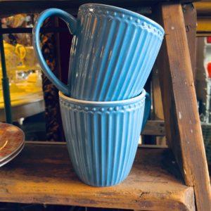 Stoneware Mug Alice sky blue