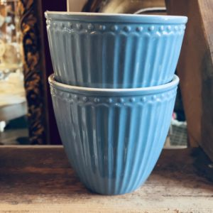 Stoneware Latte cup Alice sky blue