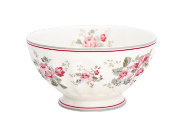 Stoneware French bowl xlarge Elouise white