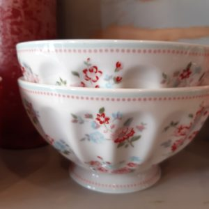 Stoneware French bowl xlarge Sonia white
