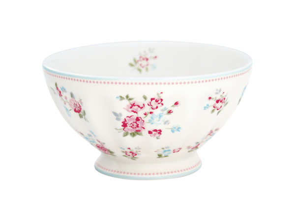 Stoneware French bowl xlarge Sonia white