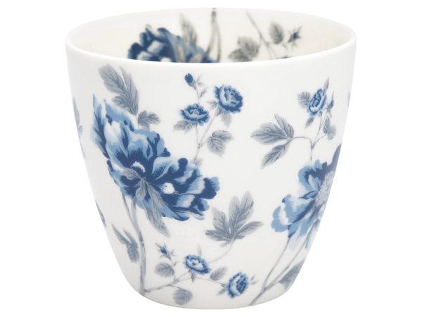 Stoneware Latte cup Charlotte white