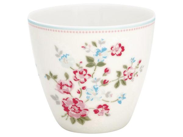 Stoneware Latte cup Sonia white