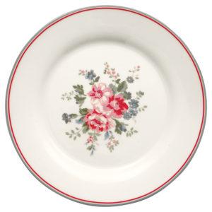 Stoneware Plate Elouise white