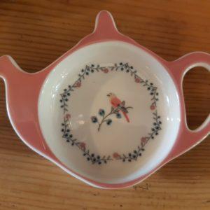 Stoneware Teabag holder Sienna white