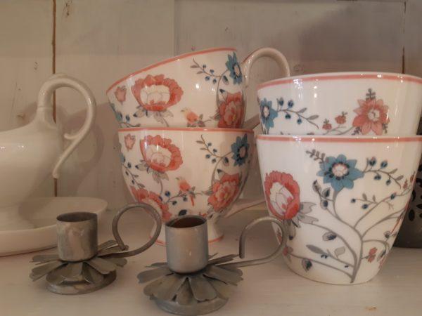 Stoneware Teacup Sienna white