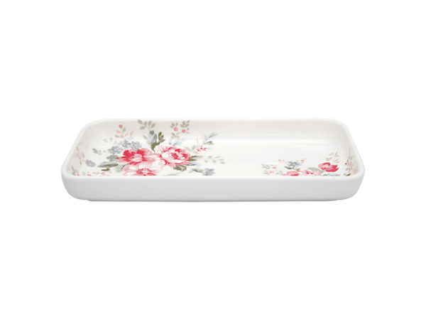 Stoneware Tray small Elouise white