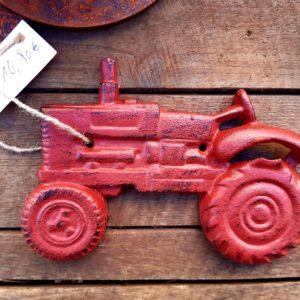Flaschenöffner Traktor rot