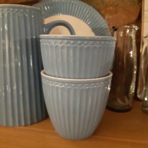 Latte cup sky blue
