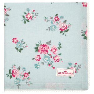 Cotton Napkin with lace Sonia pale blue
