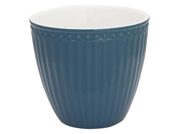 Stoneware Latte cup Alice ocean blue