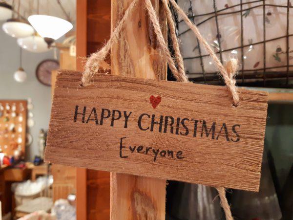 Holzschild Happy Christmas