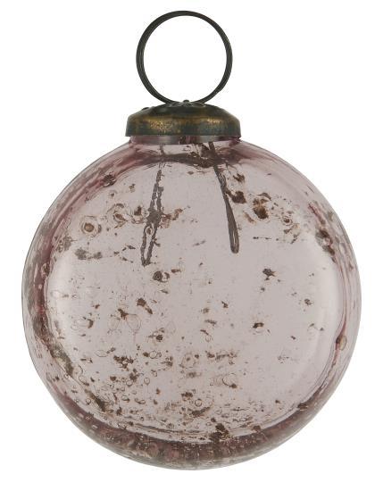Weihnachtskugel-flach-pebbled-Glas-rosa