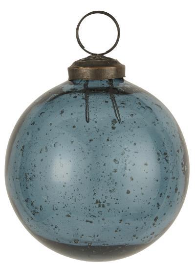 Weihnachtskugel pebbled Glas petrol