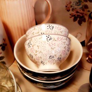 Stoneware Snack bowl Ginny white
