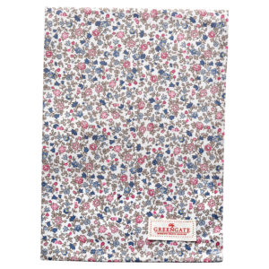 Cotton Tea towel Ruby petit white