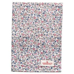 Cotton Tea towel Ruby petit white