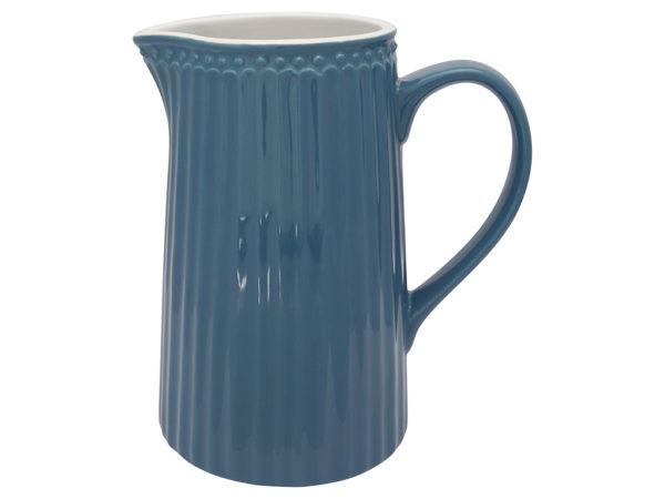 Stoneware Jug Alice ocean blue 1L