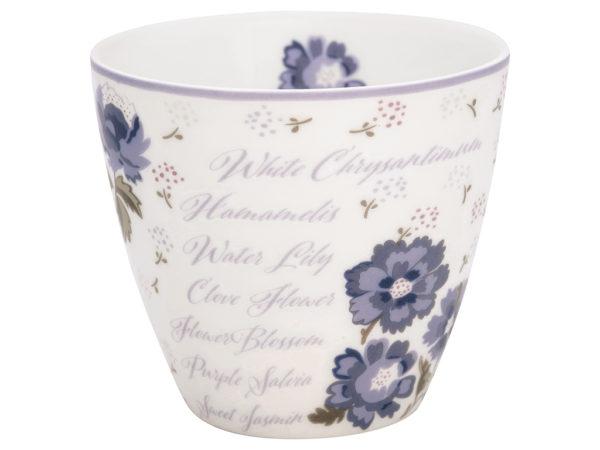 Stoneware Latte cup Beatrice white