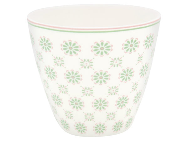 Stoneware Latte cup Mila white