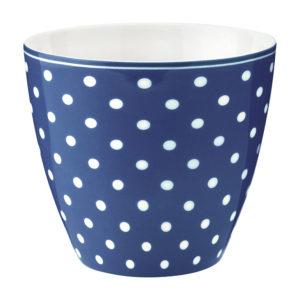 Stoneware Latte cup Spot blue
