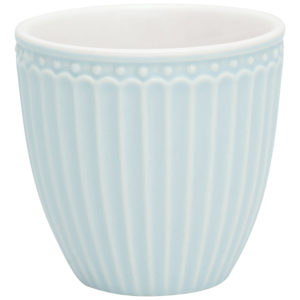 Stoneware Mini latte cup Alice pale blue