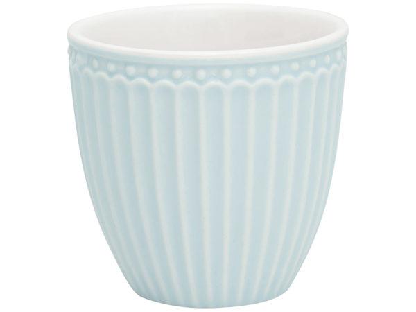 Stoneware Mini latte cup Alice pale blue