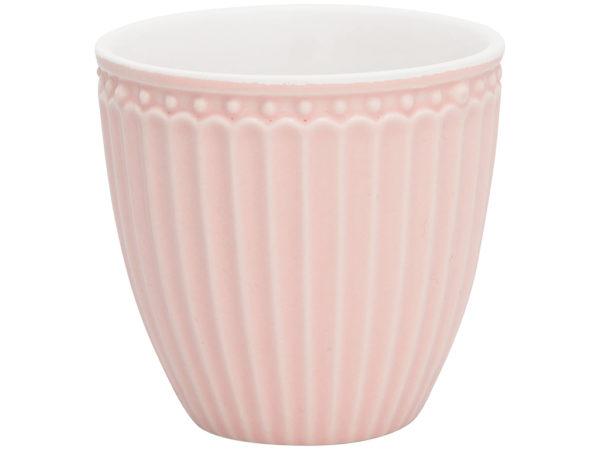 Stoneware Mini latte cup Alice pale pink