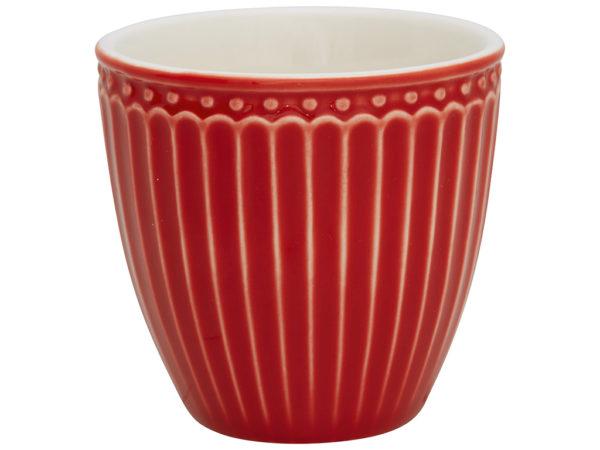 Stoneware Mini latte cup Alice red