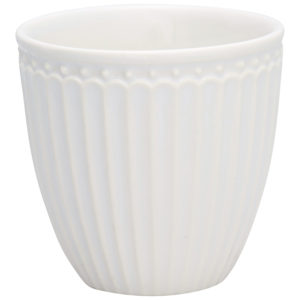 Stoneware Mini latte cup Alice white