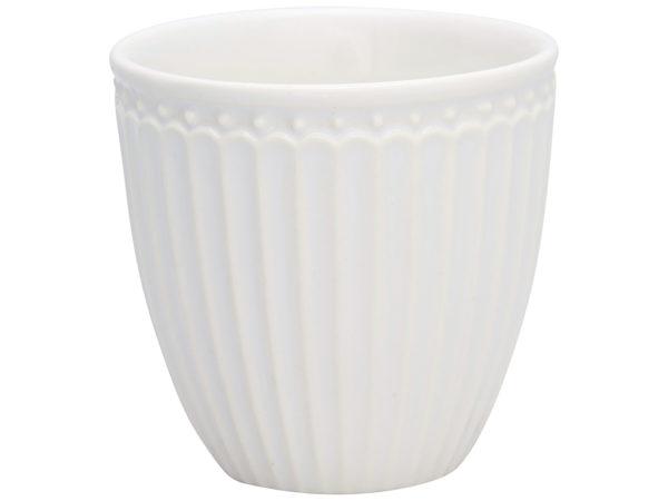 Stoneware Mini latte cup Alice white