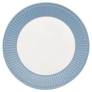 Stoneware Plate Alice sky blue