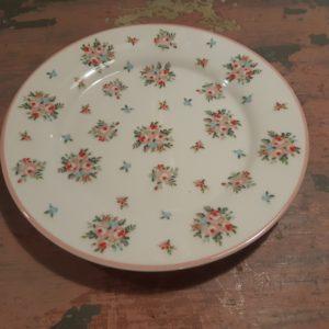 Plate Abigail white