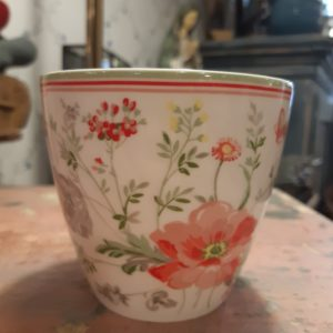 Greengate Latte Cup - Meadow white