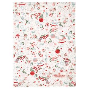 Cotton, Tea towel Carol white