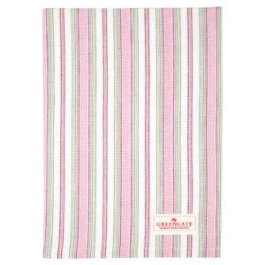 Cotton, Tea towel Imke pale pink