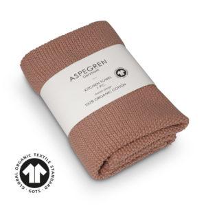Handtuch Gestricktes Design Aspegren Solid Pale Blush