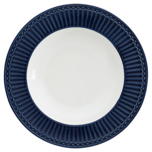 Stoneware Deep plate Alice dark blue