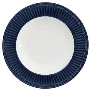 Stoneware Deep plate Alice dark blue