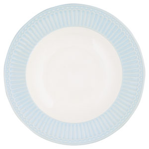 Stoneware Deep plate Alice pale blue